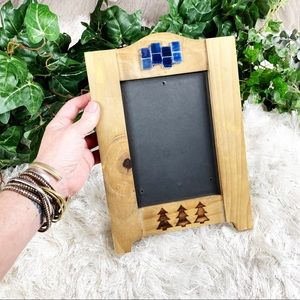 Reclaimed Wood Tree Mosaic 5x7 Picture Wall Frame